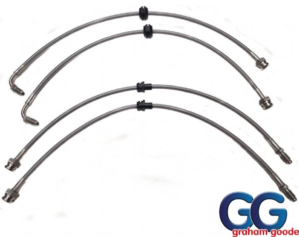 Stainless Steel Brake Hose Kit Fiesta ST 150 - Graham Goode Racing